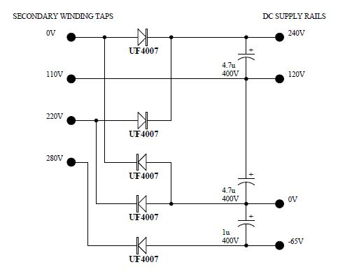 Switchmode power supply module for 6CM5 output stage use